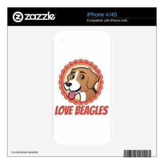 Love Beagles iPhone 4 Skin