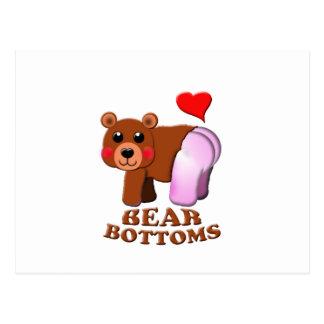 love  bear bottoms postcard