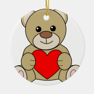 Love Bear Ceramic Ornament