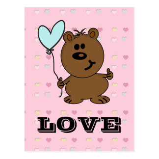 Love Bear spreading some Love Postcard