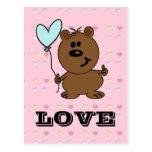 Love Bear spreading some Love Postcards