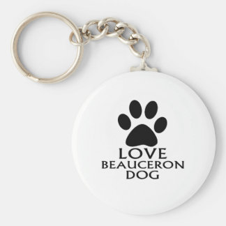 LOVE BEAUCERON DOG DESIGNS KEYCHAIN