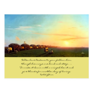 love beckons postcard