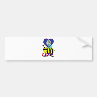 love bee lize car bumper sticker