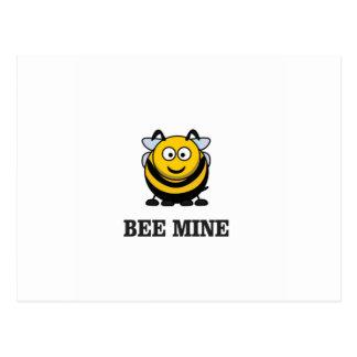 love bee mine postcard