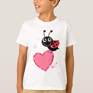 LOVE BEE with pink Heart T-Shirt