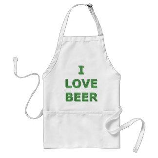LOVE BEER - St. Patricks Day IRISH Adult Apron
