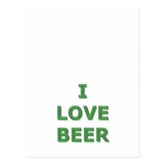 LOVE BEER - St. Patricks Day IRISH Postcard