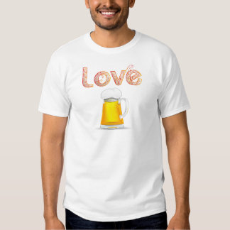 Love beer tshirt with text.