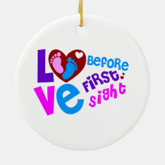 Love Before First Sight Ceramic Ornament