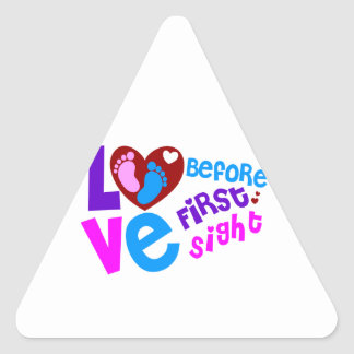 Love Before First Sight Triangle Sticker