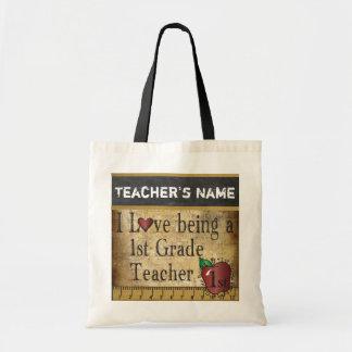 Love Being a 1st Grade Teacher | DIY Name Tote Bag