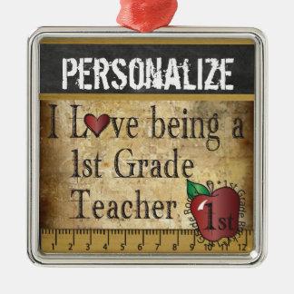 Love being a 1st Grade Teacher | Vintage Metal Ornament