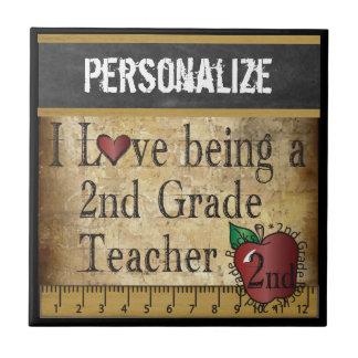 Love being a 2nd Grade Teacher   DIY Name Ceramic Tile