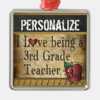 Love being a 3rd Grade Teacher   Vintage Metal Ornament