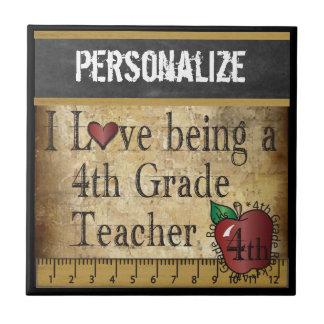 Love being a 4th Grade Teacher | DIY Name Tile
