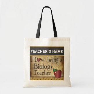 Love Being a Biology Teacher   DIY Name Tote Bag