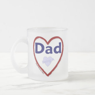 Love Being A Dad Frosted Glass Coffee Mug
