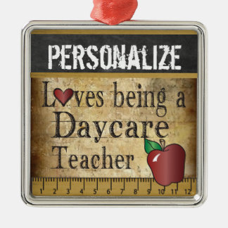 Love being a Daycare Teacher | Vintage Metal Ornament