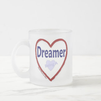 Love Being a Dreamer Frosted Glass Coffee Mug