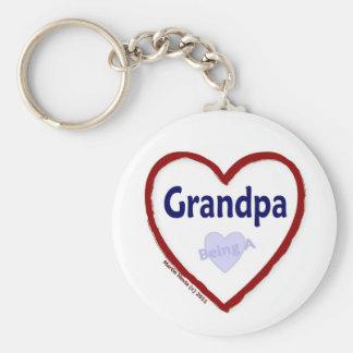 Love Being A Grandpa Basic Round Button Keychain