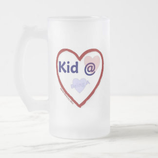 Love Being a Kid @ Heart Frosted Glass Beer Mug