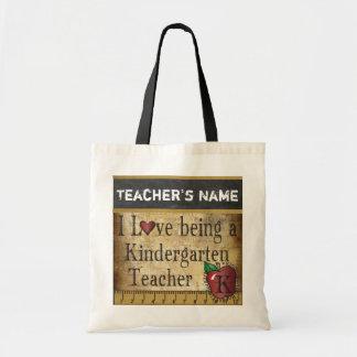 Love Being a Kindergarten Teacher | DIY Name Budget Tote Bag