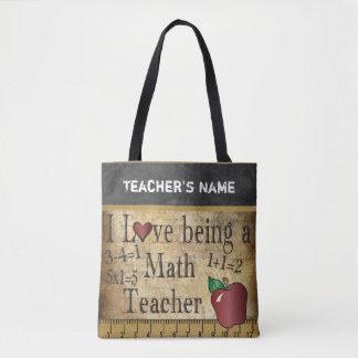 Love Being a Math Teacher   DIY Name Tote Bag