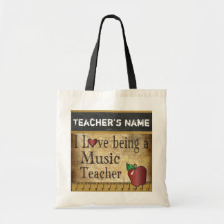 Love Being a Music Teacher   Vintage Style Tote Bag