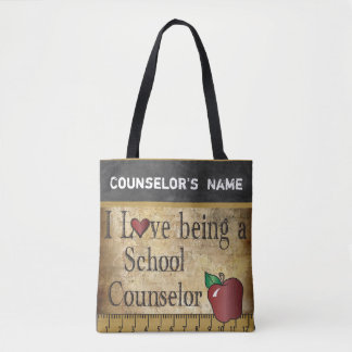 Love Being a School Counselor | DIY Name Tote Bag