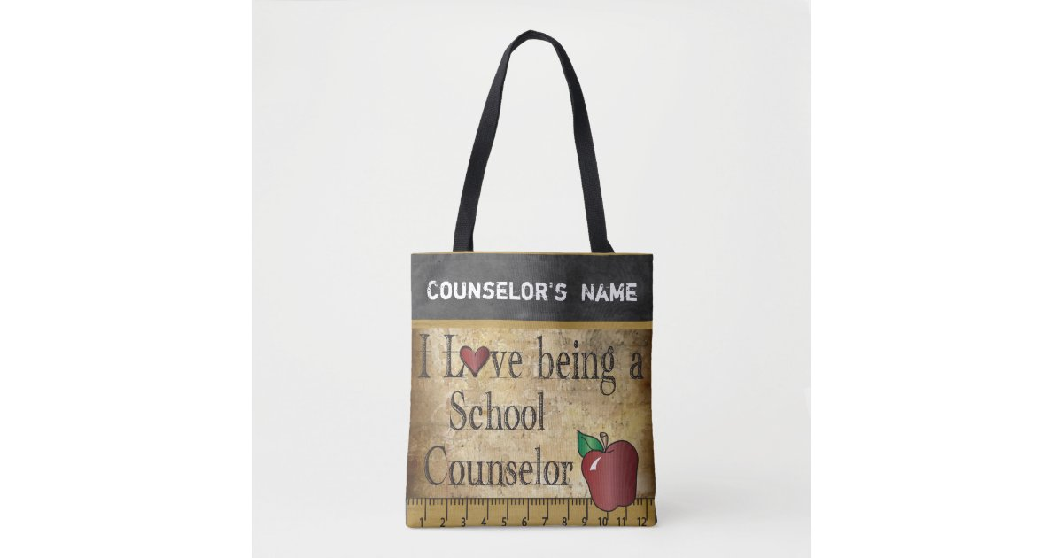 Love Being A School Counselor Diy Name Tote Bag Zazzle