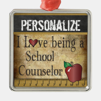 Love being a School Counselor | Vintage Metal Ornament
