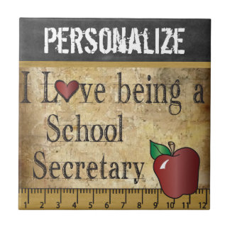 Love being a School Secretary - DIY Name Tile