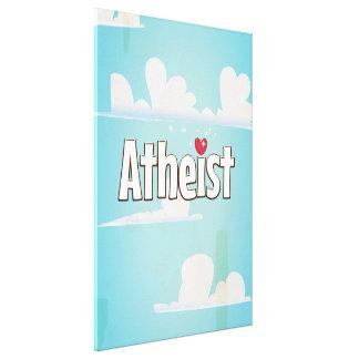 Love being an Atheist Canvas Print