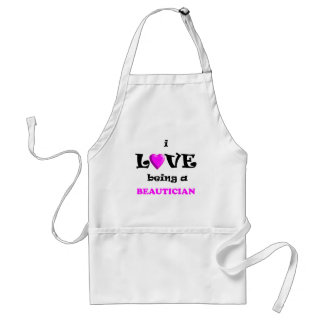 Love Being Beautician (2) Adult Apron