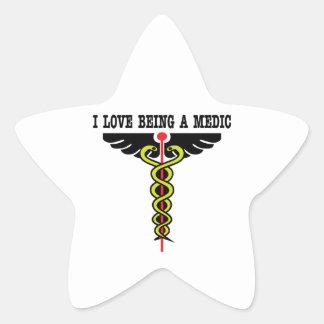 Love Being Medic Star Sticker