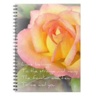 Love Belongs Poem Rose Notebook