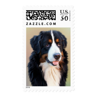 Love Bernese Mountain Dog US Postage Stamps