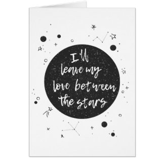 Love Between the Stars Greetings Card
