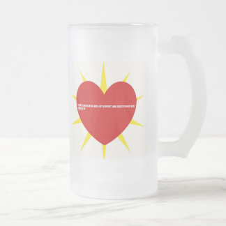Love  Bible Quotes Frosted Glass Beer Mug
