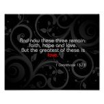 Love Bible Verse, Black/Red Poster