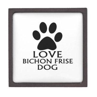 LOVE BICHON FRISE DOG DESIGNS GIFT BOX