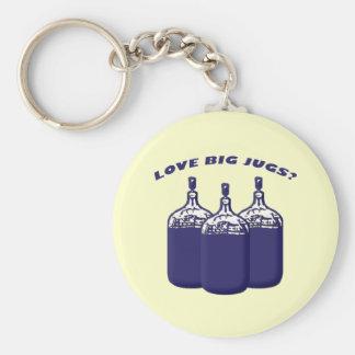 Love Big Jugs? Basic Round Button Keychain