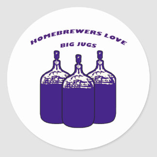 Love Big Jugs Classic Round Sticker