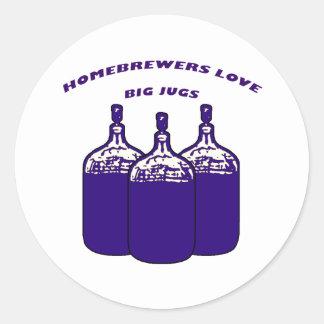 Love Big Jugs Classic Round Sticker