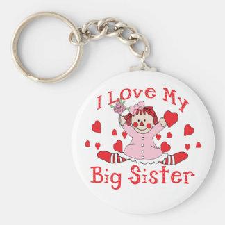 Love Big Sister Basic Round Button Keychain