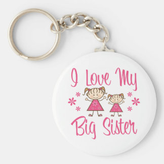Love Big Sister Pink Girls Key Chain
