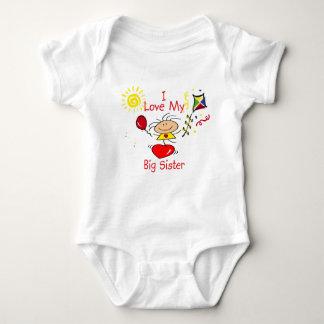 Love Big Sister Stick Figure Girl T-shirts
