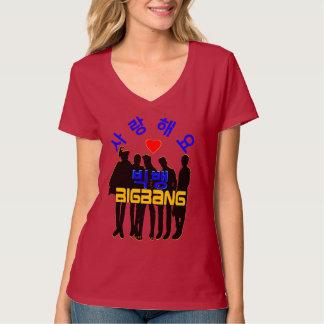 ♪♥Love BigBan Women's KPop Nano Stylish V-Neck T♥♫ T-Shirt
