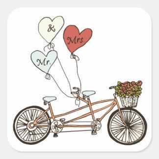 Love bike Mr. & Mrs. sticker